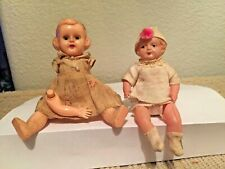 "Celluloid Japan 4"" Baby Doll and 5"" Hp Sleep Eyes Original Clothing"