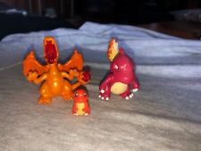 "Pokemon TOMY Charmander Charmeleon & Charizard 1.5"" PVC figure lot of 3"