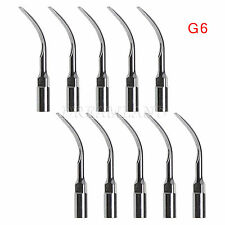 10*Ultrasonic Scaling Scaler Insert Tip G6 for EMS WOODPECKER Handpiece CJA