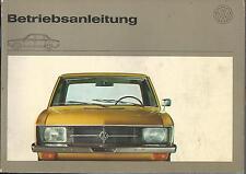 VW k70 manual de instrucciones 1970 manual de instrucciones manual bordo libro ba