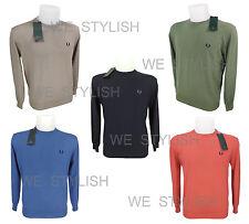 FRED PERRY maglioncino uomo cotone man crewneck light sweater cotton M-L-XL-XXL