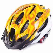 JAUNE VÉLO CYCLISME SPORTS sécurité bicyclette 15 trous homme adulte casque avec