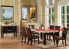New Beautiful Stylish Modern Simple Dining Chairs 6pc set Espresso PU Chair