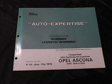 revue technique automobile-auto expertise-opel ascona(1200-1600-1900)
