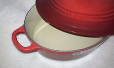 Le Creuset Enamled Cast-Iron 3.5 Qt Quart Oval Wide French Dutch Oven Red NEW