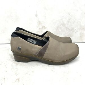 Keen Women 38.5 US Size 8 Clogs Slip On Comfort Shoe Brown Taupe Suede