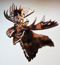 """Moose Head Metal Wall Art  Measures 14 1/2"""" x 13 1/2"""""""