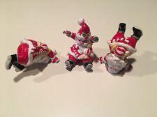 Fitz & Floyd Merry 3pc Figurine Set Santa Tumblers