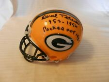 Deral Teteak Green Bay Packers Signed Mini Helmet 1952-56 Packer HOF 1987
