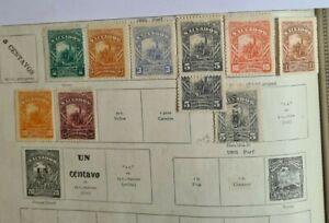 EL SALVADOR 1892, 9 ITEMS - COLUMBUS ISSUE + RARE SURCHARGE