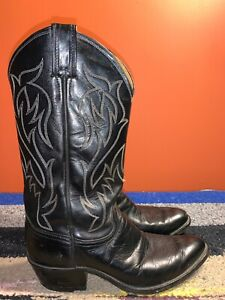 70s MOTO Leather Boots Lace Up tall Boot Mens Size 8 usa Round Toe Black Leather Womens size 10 ARMY motorcycle boots combat DISTRESSED 41