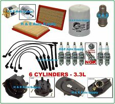 96-04 QX4 FRONTIER PATHFINDER XTERRA 3.3L TUNE UP KITS: WIRE SET, CAP, & FILTERS