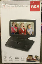 RCA 9 Portable DVD Player Widescreen LCD Display DAMAGED Open  BOX