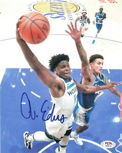 Anthony Edwards signed 8x10 photo PSA/DNA Minnesota Timberwolves Autographed
