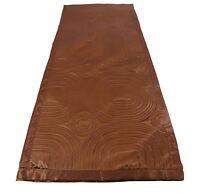 "CHOCOLATE BROWN SATIN EMBOSSED LONG BEDROOM BED RUNNER 45 X 220CM - 18"" X 86"""