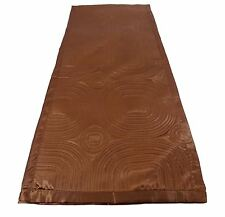 Marrón Chocolate Satén con Relieve Largo Dormitorio Camino de Cama 45 X