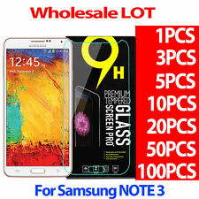 NEW Premium Tempered Glass Screen Protector Film For SAMSUNG GALAXY NOTE 3 LOT