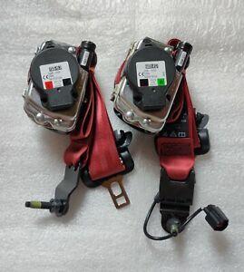 Jaguar F-Type red Seatbelts. New. (left + right) USA & 🍁 spec. Pair