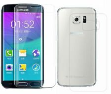 Front+Back SAMSUNG GALAXY S6 EDGE FULL CURVED 3D TEMPERED GLASS SCREEN PROTECTOR
