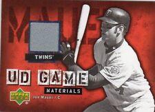 2006 (TWINS) Upper Deck UD Game Materials #JM Joe Mauer TWINS Jersey S2
