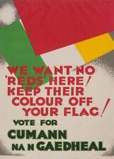 WE WANT NO REDS HERE! Irish Anti-Communist Propaganda Poster (1932)
