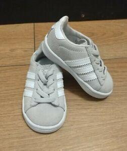 ADIDAS Campus Ortholite INFANT TRAINERS Shoes Boys Girls Kids Cream Size UK 3K