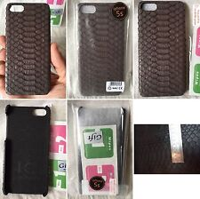 HANDMADE 100% GENUINE SNAKE PYTHON BROWN BELLY LEATHER iPHONE 5/5s COVER CASE