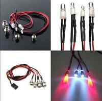 RC On-Road Model Drift Car LED Night 8mm&5mm Headlamps Head Tail Lights 4pcs