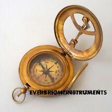 Antique Maritime Brass Stanley London Sundial Nautical compass Marine Maritime