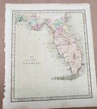 New ListingMap of the Territory of Florida by Greenleaf 1840