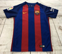 Nike FC Barcelona 2016 Home Soccer Jersey Youth Small Blue/Red Messi
