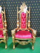 GOLD with PINK  Lion King Throne Chair for prop , movie , music video, hotel