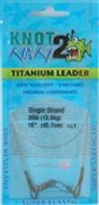 "Knot 2 Kinky Titanium Leader 30lb (13.6kg) 18"" (45.7cm)"