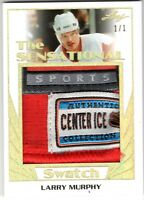 LARRY MURPHY 2017-18 Leaf Hockey THE SENSATIONAL SWATCH Jersey TAG Gold #1/1