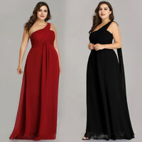 US Ever-Pretty Plus One Shoulder Long Evening Party Dresses Homecoming Prom Gown