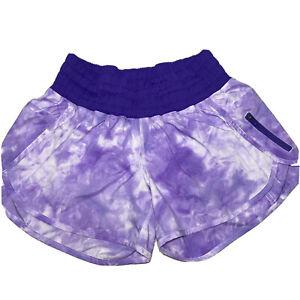 Lululemon Tracker Shorts Purple Bruised Berry Spray Tie Dye Size 8