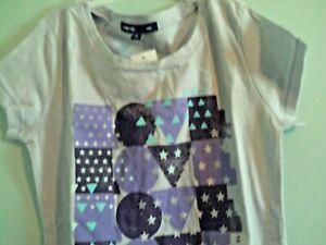 "NWT Gapkids girls SS grey T-shirt w/ ""LOVE"" in purple & lavender size Medium (8)"