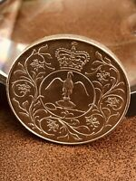 BRITISH 25 NEW PENCE COIN - 25TH ANNIV. OF ACCESSION OF QUEEN ELIZABETH II 1977