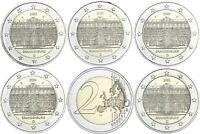 Deutschland 5 x 2 Euro 2020 bfr Bundesland Brandenburg Komplettsatz A D F G J