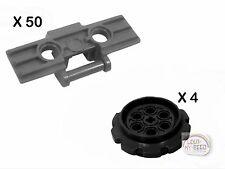 LEGO Technic - 50 Treads + 4 Lg Sprockets - Link - New - (Track,Gear,EV3,Robot)