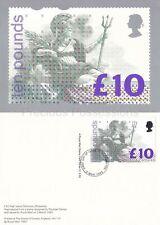GB PHQ CARD NO. D1 1993 BRITANNIA HIGH VALUE DEFINITIVE REAR SOUTHAMPTON FDI