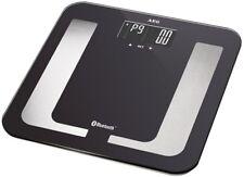 AEG Personenwaage 8in1 mit Bluetooth und App schwarz Körperfettwaage Fitness