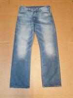 MENS LEVI'S 506 FADED BLUE STRAIGHT LEG DENIM JEANS W32 L30