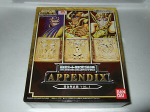 SAINT SEIYA APPENDIX PANDORA BOXES VOL.1 BANDAI NEW NUEVO PANDORA BOX GOLD CLOTH