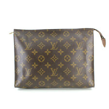 Authentic Louis Vuitton Vintage Monogram Toiletry Pouch 26 Clutch Used LV France