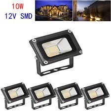 5 X 10W Warm White Flood Light LED SMD Spotlight Outdoor Garden  Lighting DC12V