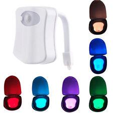 LED Toilettendeckel WC Sitz Toilettendecke Discolicht 8 Farben Klobrille RGB