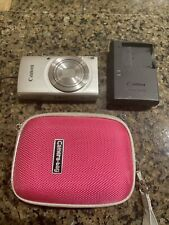 Canon PowerShot ELPH 180 20MP 8x Zoom Digital Camera w/Charger & 8GB SD Card