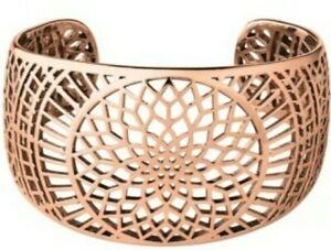 Links Of London Timeless Cuff Bracelet Rose Gold Vermeil 18 Ct Bnib 5010.3217