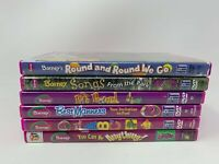 Lot of 6 Barney DVDs - Songs Numbers Shapes Colors Music Children